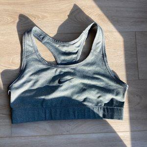 Grey Nike dry fit sports bra